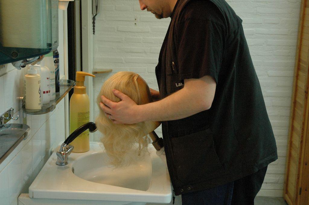 Washing a Wig