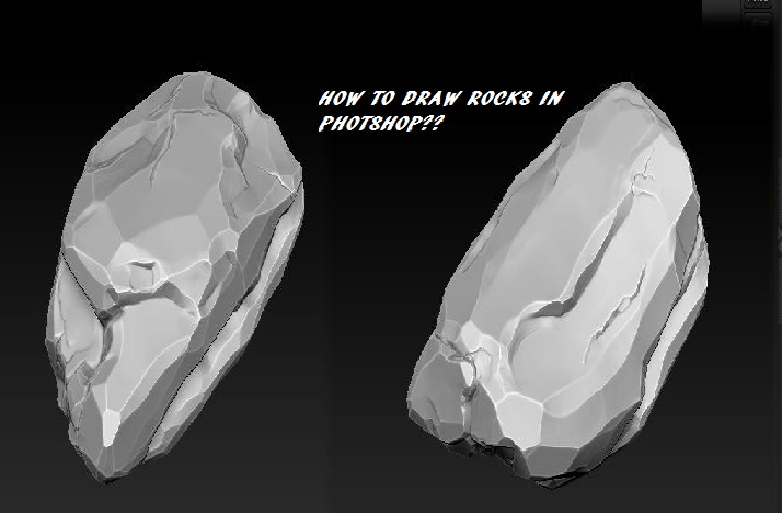 How to draw rocks in photoshop?