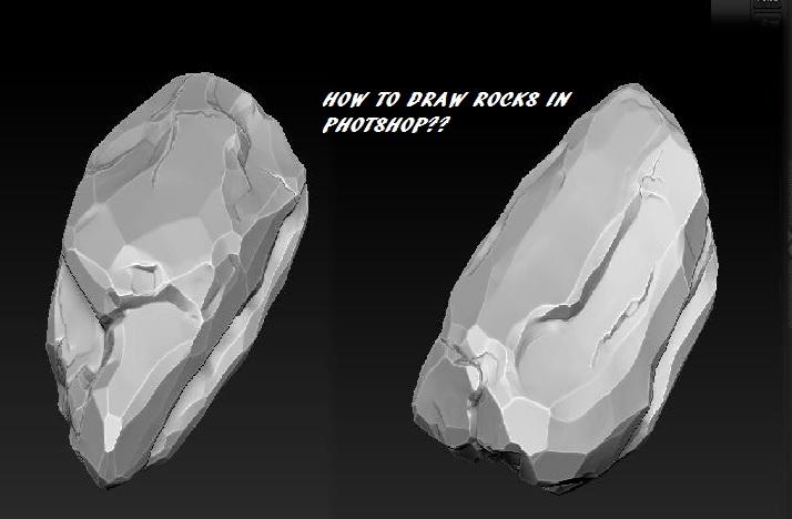 How to Draw Rocks in Photoshop