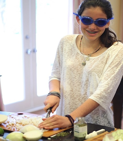 Chopping onions without tears