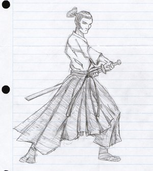 Draw Anime Samurai
