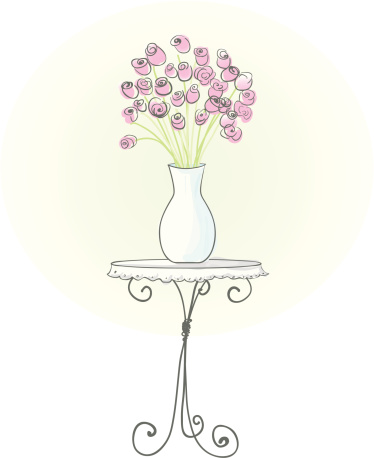 How To Draw A Vase Of Roses Step By Step