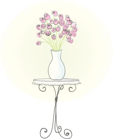 Vase of rose