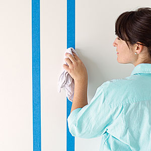Paint Stripes on Wall
