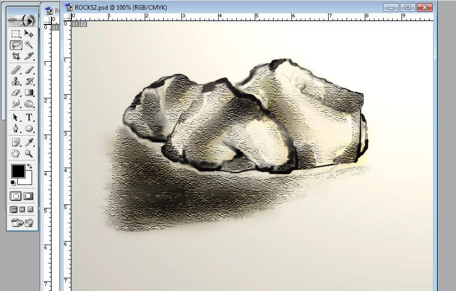how to draw rocks photoshop