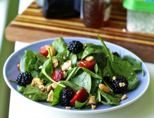 black berry salad