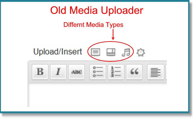 upload media files on blog