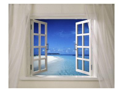 Open window in house
