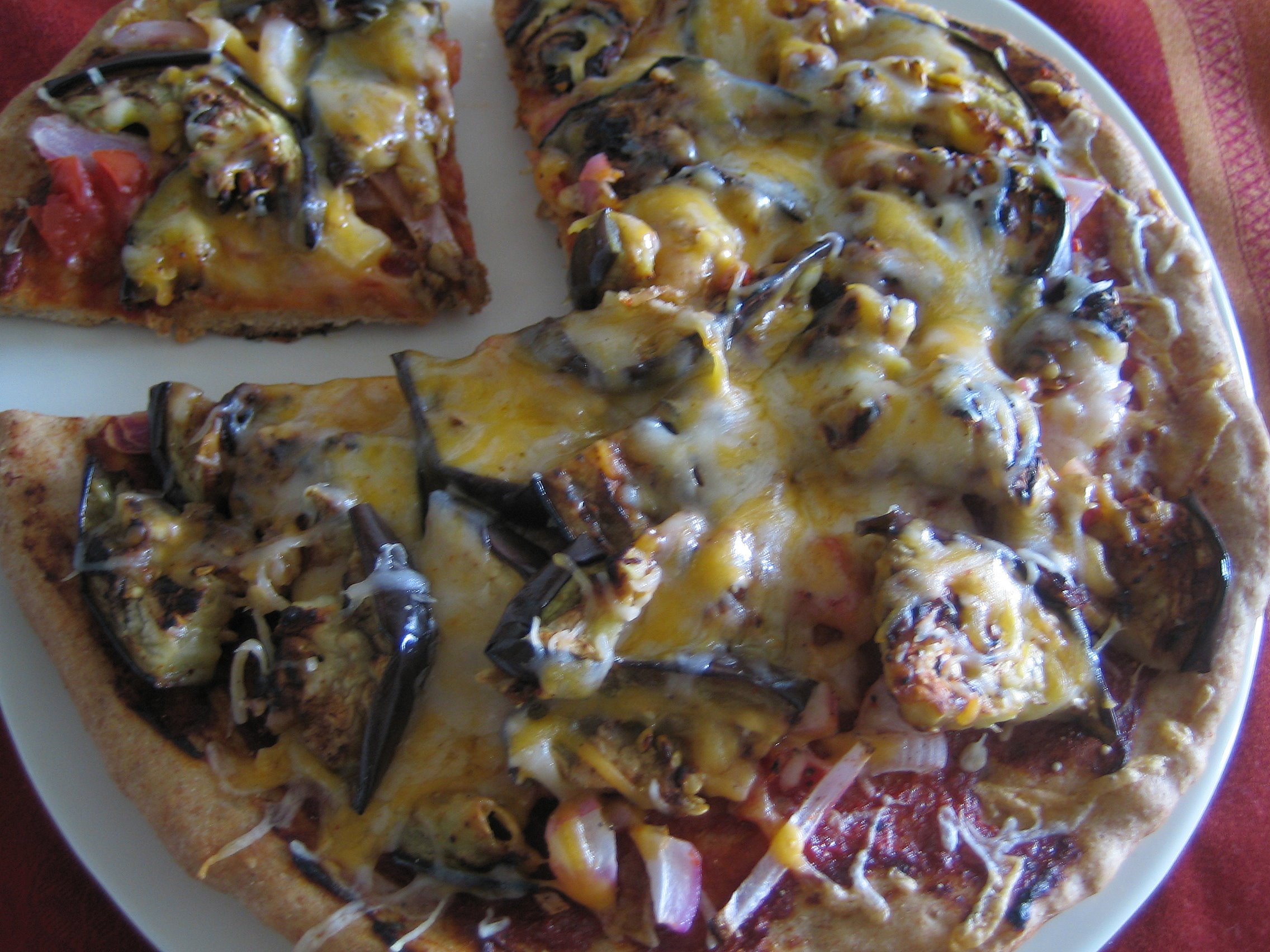 Eggplant pizza