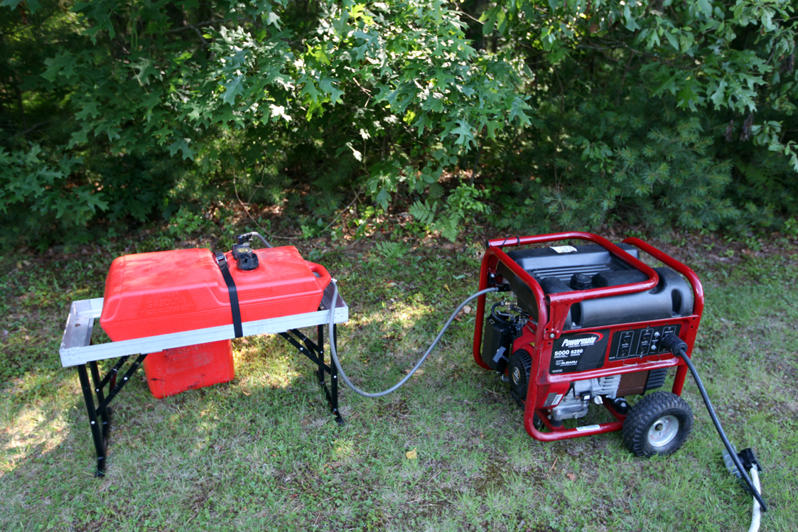 How to Add an Aux Fuel Tank to a Generator