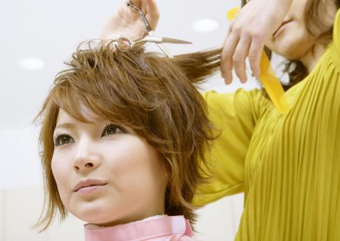 Choppy haircut