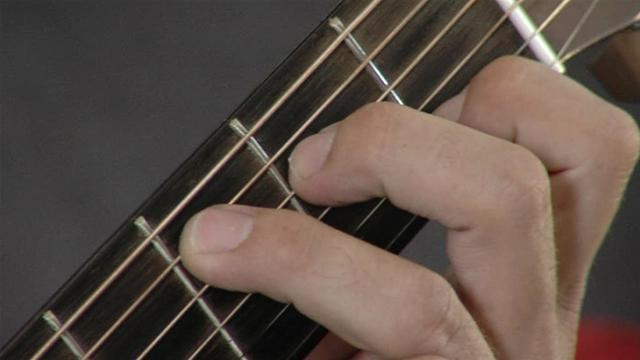 Playing A C Major Chord On Guitar