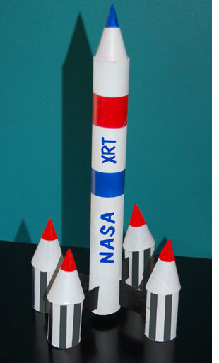 Building a rocket at home for kids