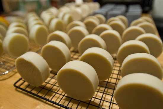 Home-made soap bars