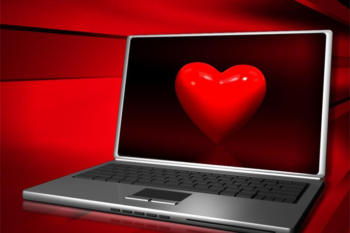 Computer with Love Virus