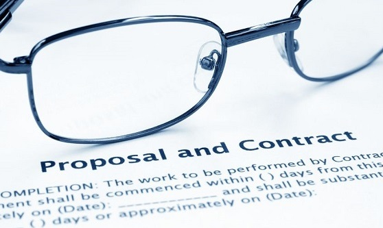 Business proposal and contract
