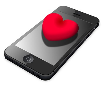 iPhone with heart