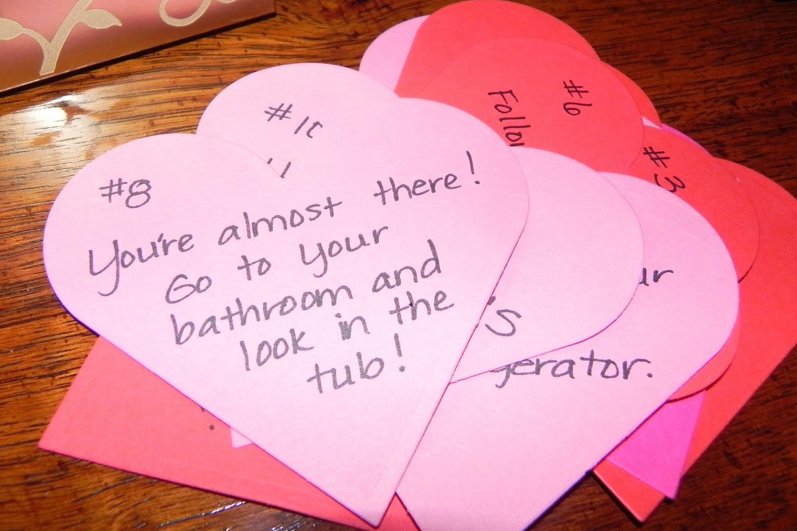 clues for valentine's day scavenger hunt