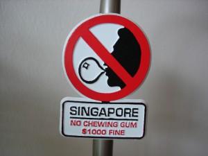 singapre chewing gum