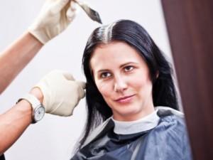 Woman Dying Black Hair