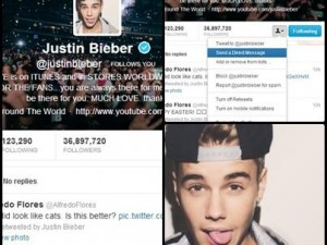 Get a Follow from Justin Bieber