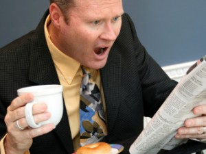 Man shocked with news