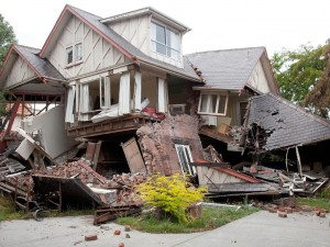 Building Destroyed by Earthquake