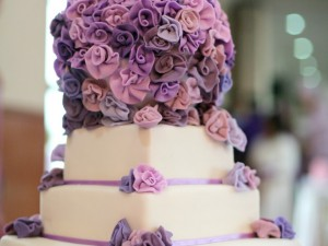 Purple Wedding Cake